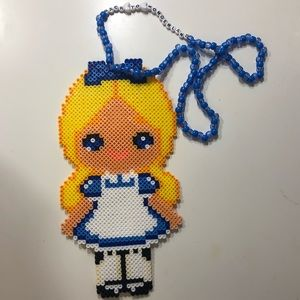 💙 Alice in Wonderland Perler Necklace 💙